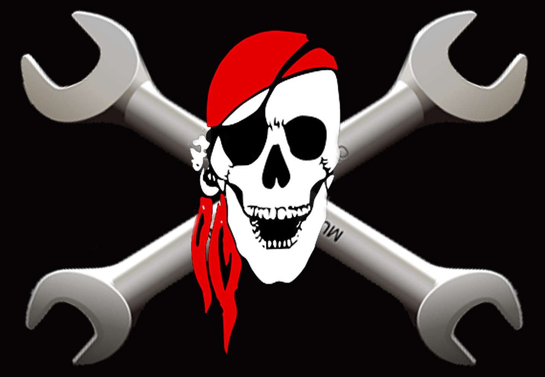 bandera mecanicos piratas